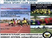 Reserva ya tu plaza en el Campamento de Verano de Meliz Sport Club 2018